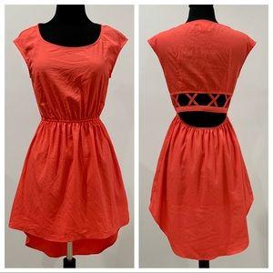 NWOT GODDESS WING Coral Dress